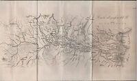 CARTA IDROGRAFICA DEL PO-MILANO-GIORGIO MANZI-1865-INCISA IN RAME-RARA-L733