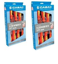 2 pack Cabac VDE Screwdriver set 8 piece Slot-Phillips 1000V protection-HVSDK5