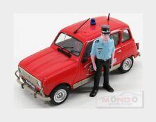 RENAULT R4 Tl Sdis 79 Pompiers With Figure 1971 Red White ELIGOR 1:43 ELI101603