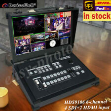 Devicewell HDS9106 Portable Video switcher 6-Channel 4 SDI+2 HDMI with monitor