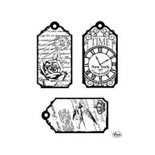 Viva Decor A5 Clear Silicone Stamps Set - Tags Time #123