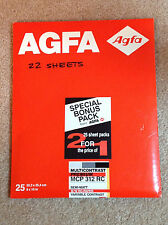 AGFA 8x10 Black and White Photo Enlarging Paper MCP312RC  22 Sheets