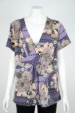 Katies Short Sleeve Machine Washable Floral Tops for Women