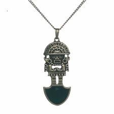 Mal barrera Esmalte Azteca Protección Talismán Colgante Collar AZ04