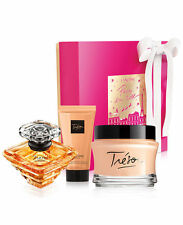 Lancome Tresor 3.4 oz Parfum 6.7 oz body Cream + Shower Gel Perfume Gift Set NIB