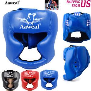 Boxing Headgear Face Protective Gear head Guard MMA Helmet Kickboxing Adult Kids