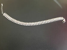 Brand New - Mood By Jon Richard Triple Row Square Diamante Crystal Bracelet