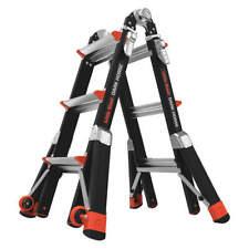 LITTLE GIANT 15143-001 Multipurpose Ladder,13 ft,IAA,Fiberglass