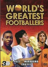 Worlds Greatest Footballers Pele Maradona & Cruyff 3 DVD FOOTBALL