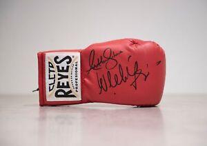 Anthony Joshua & Wladimir Klitschko Signed Boxing Glove Proof AFTAL COA (E)