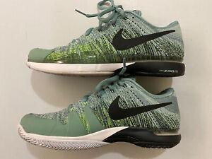 Nike RF Federer ZOOM VAPOR FlyKnit Tennis Shoes 885725-001 Size 9.5 - Rare