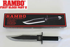 New Rambo 2 SYLVESTER STALLONE First Blood Part II Survival Battle Field Knife