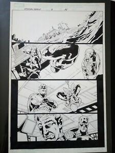 avengers / spider-man original art by manuel garcia