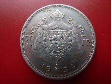 1934 Belgium Silver 20 Francs  (ref04)
