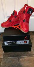Air Jordan 4 Retro Singles Day Womens AV3914-600 Fire Red Black Shoes Size 8.5