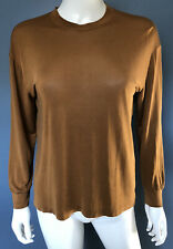"EQUIPMENT Women's Crew Neck Long Sleeve Top Blouse ""Silk T Shirt"" Size Small"