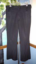 Mens Retro Dress Pants Black double-knit 32w x 27L altered fit see measurements