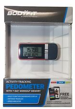 Bodyfit Activity Tracking Pedometer with 7 day workout memory