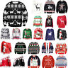 Women's Mens Ugly Sweater Xmas Jumper Sweatshirt Pullover Tops T-shirt Christmas