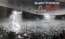 RARE EURYTHMICS LIVE 1983-1989 VINTAGE RECORD ALBUM STORE PROMO POSTER
