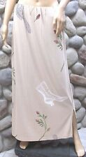 JG Mad Lab Staley/Gretzinger Hand Painted Long Knit Skirt Brush Boot Flowers L