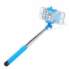 Extendable 3.5mm Wired Remote Shutter Handheld Selfie Stick For iPhone 6 Plus 5