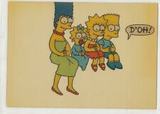 1993 Skybox THE SIMPSONS Acetate Clear Insert Card Nr/Mint - BART LISA MARGE