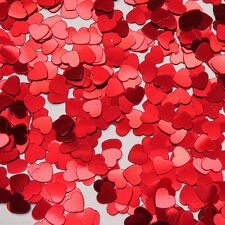 Valentine's Day Wedding Heart Confetti Sprinkles RED Hearts