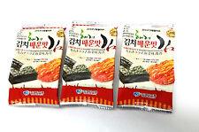 (4g x 15 Packs) Kimchi Seasoned Korea Sea Seaweed Roasted Laver Snack Nori CA