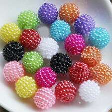 100pcs ABS Imitation Pearl Ball Removable Plastic Round Beads Craft DIY