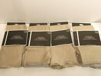 Target Gilded Noel Set of 8 Cloth Napkins Christmas 2011 Beige Silver Metallic