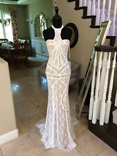 $500 NWT IVORY/NUDE PROM/PAGEANT/FORMAL/WEDDING  DRESS/GOWN #22535 SIZE 6