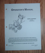 Mtd 31Ae640F352 Snow Thrower Operators Manualwith Illustrated Parts List