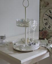 2 niveaux gâteau style plate-forme plateau bijou vanité ecran affichage