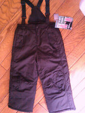 NWT GIRLS $44.99 CHOCOLATE BROWN CONVERTIBLE ARIZONA SKI BIBS SKI PANTS LARGE 6X