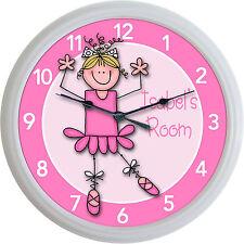 "Ballet Ballerina Dance Custom Personalized Wall Clock Girl Studio New 10"""