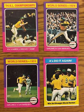 1975 Topps Lot of Four (4) Cards #s 459 461 465 466 Oakland A's WS Champs NM-MT