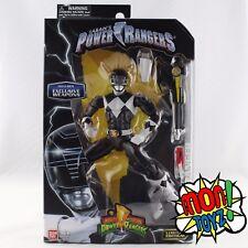 Black Mighty Morphin Power Ranger Metallic Legacy Action Figure Bandai 2017 HTF