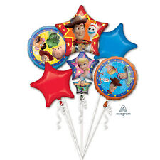 Toy Story 4 WOODY Buzz Bo Fork Party Foil Balloon Bouquet 5 Pack Decoration