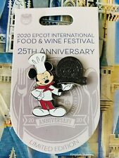2020 Disney Parks Epcot Food & Wine Festival Chef Mickey Mouse 25th Pin Le 3500