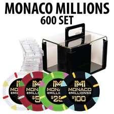 Monaco Millions Casino Poker Chip Set  600 Poker Chips Racks and Acrylic Carrier