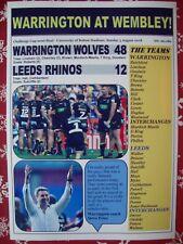 Warrington Wolves 48 Leeds Rhinos 12 - 2018 Challenge Cup semi - souvenir print