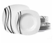 """Ritzenhoff & Breker """"Nero"""" Tellerset Black/ White 12-teilig Teller Suppenteller"""