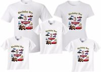 Cars Lightning McQueen Birthday Boy Family Customize age ,name matching T-Shirts