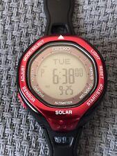 Seiko Prospex Alpinist SBEB003 Solar Powered Red Black Unisex Watch