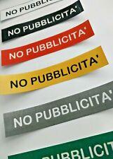 ADESIVI PVC 10X2CM NO PUBBLICITA' POSTA INDESIDERATA CASSETTA POSTALE A COLORE