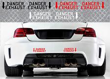2 X DANGER EXHAUST BMW M3 M5 M6 RACING 21cmX6cm AUTOCOLLANT STICKER DA142