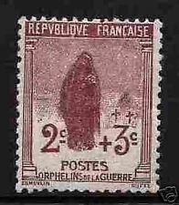 """FRANCIA STAMP SELLO 1917-18 Y&T 148 """" ORPHELINS 2c+3c """" NUEVA xx MUY BUEN ESTADO"""