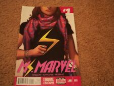 Ms. Marvel 1 bagged and boarded since new good condition also with issue 2