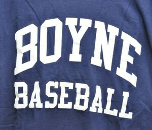 Boyne City MI Baseball Vintage Jersey Long Sleeve Shirt LARGE MJ Soffe